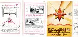 Document Dépliant -Publicite Pour La Spidoléine - Ste A. ANDRE Fils - Paris 9 Ième - Publicités