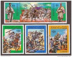Libya 1215-1218,Evacuation Day,1984.Warriors,Battle,Horses,Complete Set Of 6 Stamps, MNH,Mint - Libië