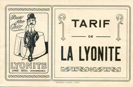 Document - Livret Tarif De La Linolite - Pour Etre Chic - Cravate, Plastron, Cols, Manchettes - Publicités