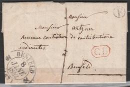 """L. Datée 1842 Pour BENFELD - Càd BENFELD/8 JANV.1842 + Boîte """"F"""" + Encadr.octog. [CL] - 1830-1849 (Belgique Indépendante)"""