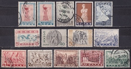 GREECE 1937 Historical Issue Complete Used Set Vl. 493 / 505 - Griekenland