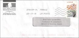 France 2018 - Curiosité - Lettre Affranchie Avec Vignette - Variedades Y Curiosidades