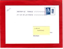Marianne L'engagée Lettre Obl 31/12/18 Dernier Jour Du Timbre Et Du Tarif Datamatrix Europe Surchargé 20/07 - 31/12/18 - 2018-... Marianne L'Engagée