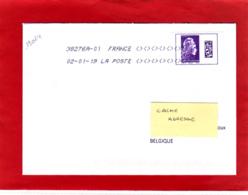 Marianne L'engagée Gommée / Lettre Obl 02/01/18 / Premier Jour D'utilisation Du Tarif / Datamatrix International - 2018-... Marianne L'Engagée