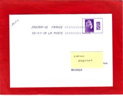 Marianne L'engagée Adhésif Carnet / Lettre Obl 02/01/18 / Premier Jour D'utilisation Du Tarif Datamatrix International - 2018-... Marianne L'Engagée
