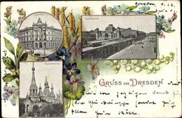 Cp Dresden, Neue Post, Hauptbahnhof, Russisch Orthodoxe Kirche - Germany