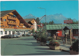 Villars S/Ollon: MERCEDES 190 W201, VOLVO 145, FORD SIERRA, DAIHATSU HIJET & TAFT, VW SCIROCCO - Gare BVB - Toerisme