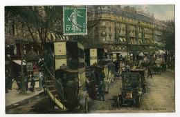 CPA 75 - PARIS - Boulevard Des Italiens - (Station Des Autobus) - ELD 4377 - Transport Urbain En Surface