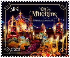 2018 MÉXICO Tradiciones Mexicanas, Día De Muertos MNH Mexican Traditions Day Of The Dead UNESCO, GRAVE CANDLES  FLOWERS - México