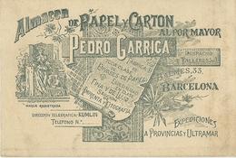 PAPEL Y CARTON AL POR MAYOR PEDRO GARRICA  BARCELONA - Publicidad