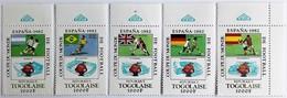 Togo 1981**Mi.1542-46  Football World Cup 1982, Spain , MNH [17;128] - World Cup