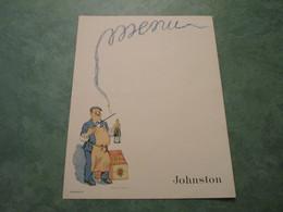 MENU Vierge Illustré Par Jacques LE TANNEUR Pour Le Champagne JOHNSTON - Other Collections