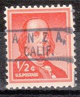 USA Precancel Vorausentwertung Preo, Locals California, Anza 801 - Vereinigte Staaten