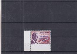 Albert Schweitzer - Rwanda - COB 790 ** - Avec Surcharge Journée Mondiale En Bleu - Rwanda