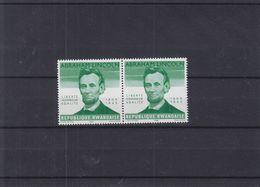 Abraham Lincoln - Rwanda - COB 92 V ** - En Paire - Sans Indication De La Valeur - Valeur 27 Euros - Rwanda