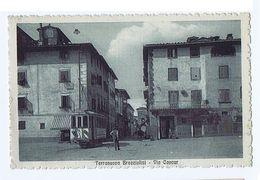 TERRANUOVA BRACCIOLINI ( AREZZO ) VIA CAVOUR - TRAM - ED. MATTEINI - 1915 (3003) - Arezzo