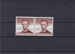 Abraham Lincoln - Rwanda - COB 93 V ** - En Paire - Sans Indication De La Valeur - Valeur 35 Euros - Rwanda