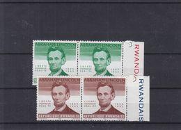 Abraham Lincoln - Rwanda - COB 92 / 93 V ** - En Paire - Sans Indication De La Valeur - Valeur 62 Euros - Rwanda