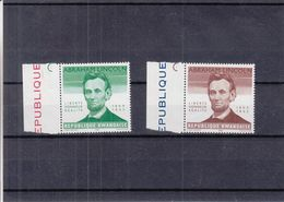 Abraham Lincoln - Rwanda - COB 92 / 93 V ** - Sans Indication De La Valeur - Valeur 31 Euros - Rwanda