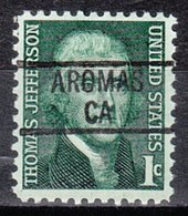 USA Precancel Vorausentwertung Preo, Locals California, Aromas 839 - Etats-Unis