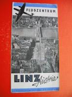 FLUGZENTRUM LINZ(Austria).AVION - Dépliants Turistici