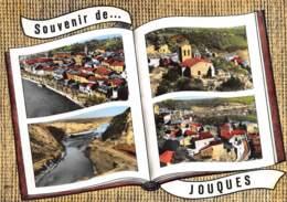 BOUCHES DU RHONE  13  JOUQUES  SOUVENIR  QUATRE VUES AERIENNES - Other Municipalities