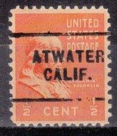 USA Precancel Vorausentwertung Preo, Locals California, Atwater 703 - Vereinigte Staaten