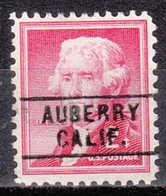 USA Precancel Vorausentwertung Preo, Locals California, Auberry 745 - Etats-Unis