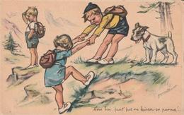 Carte Postale Ancienne De  GERMAINE BOURET   Avec Enfants Et Chien  N° 6 - Bouret, Germaine