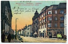 BRATISLAVA (SLOVACCHIA) - Pressburg, Pozsony, Hotel Ceskoslovensky Dom Szalloda (great Central Fold) - Slovacchia