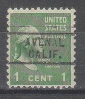 USA Precancel Vorausentwertung Preo, Locals California, Avenal 729 - Etats-Unis