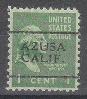USA Precancel Vorausentwertung Preo, Locals California, Azusa 701 - Etats-Unis