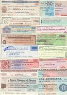 Italy Miniassegni / Emergency Check - Lotto Lot 17 Banknotes 1976-1977 - [10] Checks And Mini-checks