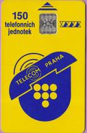 Télécarte Tchéquie °° Telecom Prague -Sc5- 150j - Non Datée. - Tchéquie