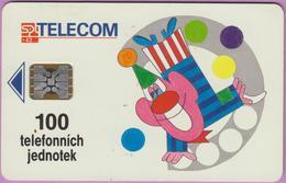 Télécarte Tchéquie °° Clown Akce -Sc5- 100j - Non Datée - Tchéquie