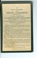 SM Soeur Lutgarde Clara Jaspard Soeur De La Charité De Namur, Couvin 1918 - Images Religieuses