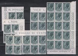 REP. VARIETA':  1955  TURRITA  STELLE  I°  -  £. 5  ARDESIA  N. -  RIPETUTO  39  VOLTE  - C.E.I. 748 - 6. 1946-.. Repubblica