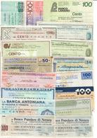 Italy Miniassegni / Emergency Check - Lotto Lot 17 Banknotes 1976-1977 - [10] Assegni E Miniassegni