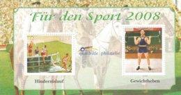 Germany Stiftung Deutsche Sportshilfe Für Den Sport 2008 Minisheet MNH/**  (H25) - Timbres