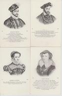 19 /  1 / 165  - 8   CPA  ROIS  ET REINES  DE  FRANCE - Postcards