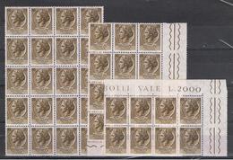 REP. VARIETA':  1955  TURRITA  STELLE  I°  -  £. 20  BRUNO  N. -  RIPETUTO  40  VOLTE  -  C.E.I. 754 - 6. 1946-.. Repubblica