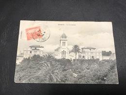 BIZERTE La Cathedrale - 1908 Timbrée - Tunesië