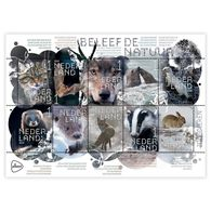 Nederland / The Netherlands - Postfris / MNH - Sheet Beleef De Natuur, Zoogdieren 2019 - Period 2013-... (Willem-Alexander)