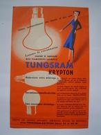 PUBLICITE Ancienne : AMPOULE CLAUDE / TUNGSRAM KRYPTON - Publicités