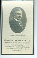SM Camille Renaux époux Léona Durieu, Solre-sur-Sambre 1928 - Images Religieuses