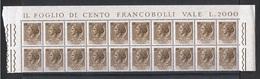 REPUBBL.  VARIETA': 1968 TURRITA  ST. IV°  FL. + ARABICA  -  £. 20  BRUNO  BL. 20  N. -  C.E.I. 1088 - 6. 1946-.. Repubblica