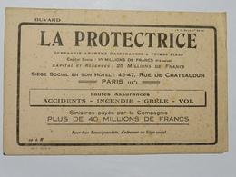 Buvard : LA PROTECTRICE, Compagnie D'Assurances à Primes Fixes, Paris - Banque & Assurance