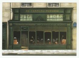 FERNANDO DA CUNHA : AU CHAPEAU MODERNE - 21 Rue Daunou Paris 2° - édit. Claude Aubert, DC 4 - Magasins