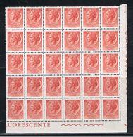 REPUBBL.  VARIETA': 1968 TURRITA  ST. IV°  FL. + ARABICA  -  £. 10  ROSSO-VERMIGLIO  BL. 30  N. -  C.E.I. 1086 - 6. 1946-.. Repubblica