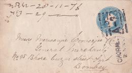 Entier  Postal Stationery Enveloppe - India  - 1876 - Enveloppes